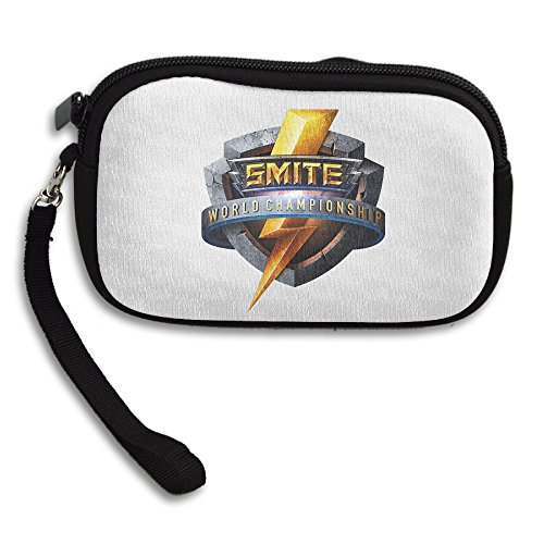 Men/Women 100% Polyester SMITE World Championship 2017 Wallet Purse Freddy Zip Card Holder Coin Purse