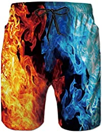 a8962edec21c4 Mens 3D Printed Funny Swim Trunks Quick Dry Beachwear Sports Running Swim  Board Shorts Mesh Lining