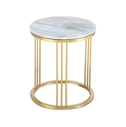 Amazon.com: Perfect Furniture CSQ Marble Small Round Table Creative ...