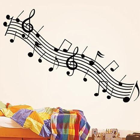 Bestofferbuy Pegatinas Para Decorar Con Forma De Notas Musicales