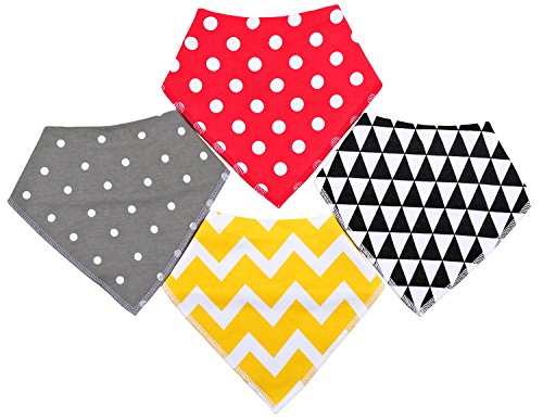 Urban Fox Dog Bandana | Dog Bandanas | Dog Bandana Small to Medium| pet Scarf for Dogs | Puppy Bandana 4 Pack Simple Pattern