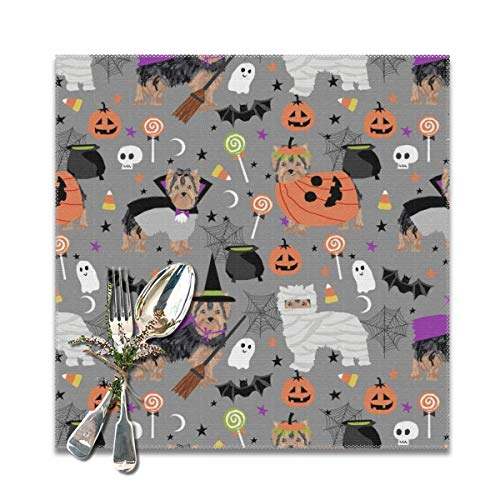 Yorkshire Halloween Costumes - Placemats,yorkshire terrier yorkie halloween costumes cute