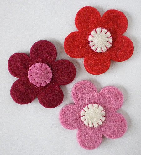 Felting Needle Flowers (WooLaLa Embellished Flowers- Peony/Red/Rose)