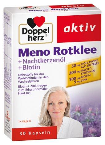 Doppelherz Meno trébol + noche rojo aceite de onagra + biotina, 4-pack (