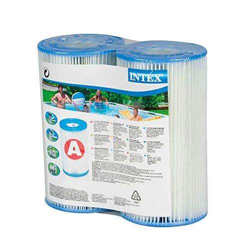 Intex Type A Filter Cartridge for Pools, Twin (Free Twin Pack)
