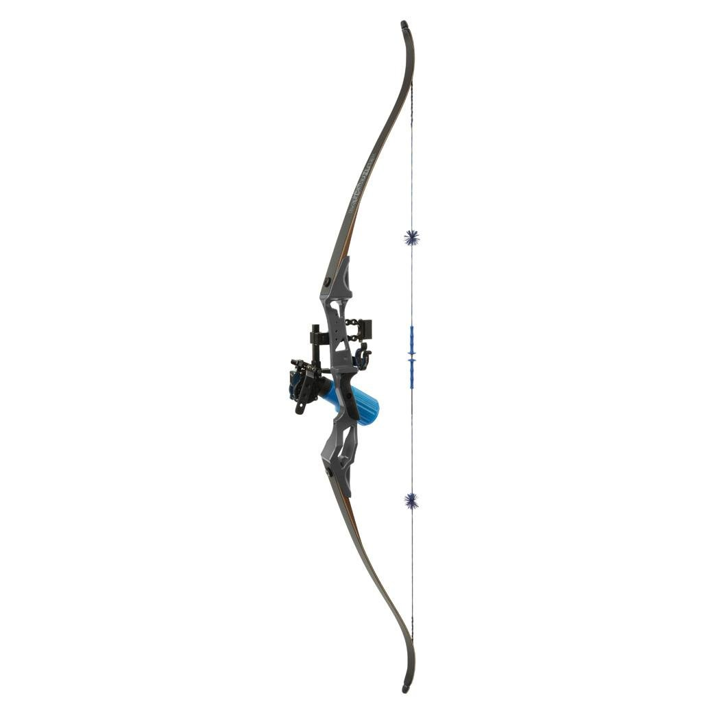 Fin-Finder Bank Runner Recurve Winch Pro Pkg 35lbs RH Black