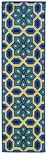 Oriental Weavers 969W6 Caspian Outdoor/Indoor Area Runner Rug, 2-Feet 3-Inch by 7-Feet 6-Inch