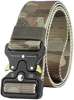 ベルト メンズ ナイロンベルト 戦術的なベルト 作業用ベルト タクティカルベルト 登山 自衛隊 運動用 軽量 フリーサイズ