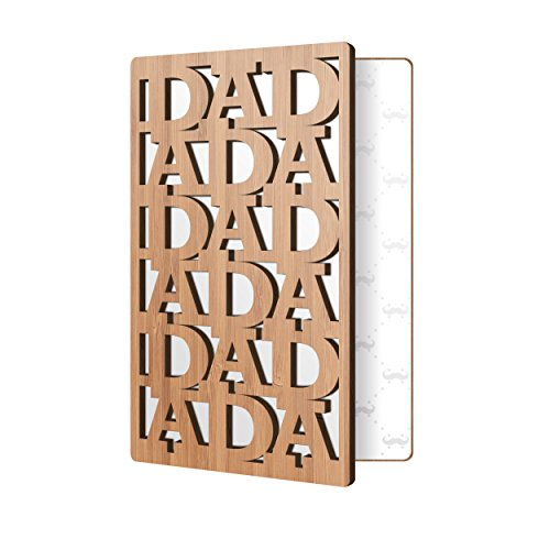 Father's Day Card Handmade Real Bamboo Wood Greeting Card; Unique Dad Cards Perfect For Any Fathers Birthday, Or Just To Say I Love You Dad