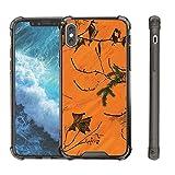 Untouchble Case for [ Apple iPhone X, iPhone 10 Case (2017)][Smoke Flex] Slim Shockproof Hard PC+TPU Gray Bumper Case Scratch-Resistant Cover Apple iPhone X 2017 - Orange Tree Camo