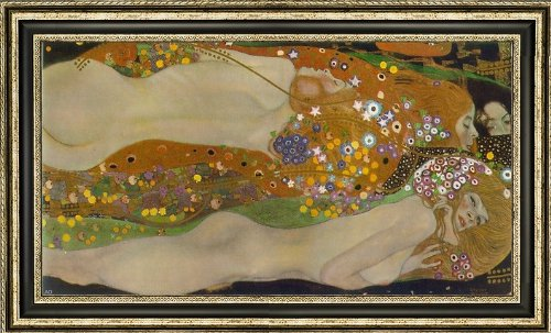 (Art Oyster Gustav Klimt Water Serpents II - 15