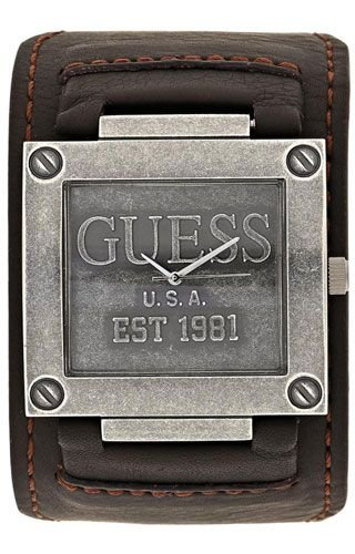 Guess - Reloj de Cuarzo para Hombre, Correa de Cuero Color marrón: Amazon.es: Relojes