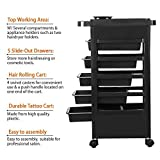 Yaheetech Beauty Salon Rolling Trolley Cart Hairdressing Trolley with 5 Drawers