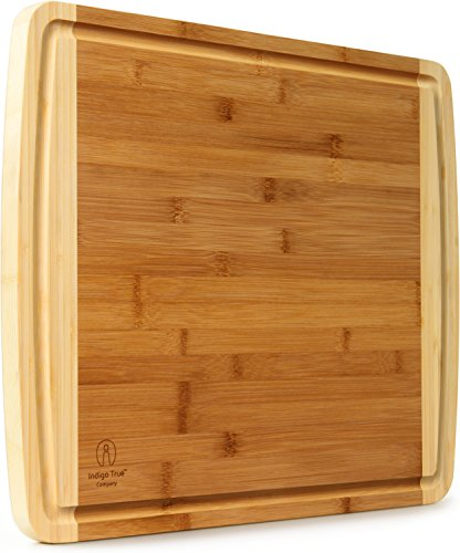 Extra Large Bamboo Cutting Board - with Juice Groove |