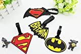 Finex 4 Pcs Set Batman Superhero Logo Silicone