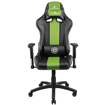 Bultaco Gaming Division Silla, PVC, Negra/Verde, Large: Amazon.es: Hogar