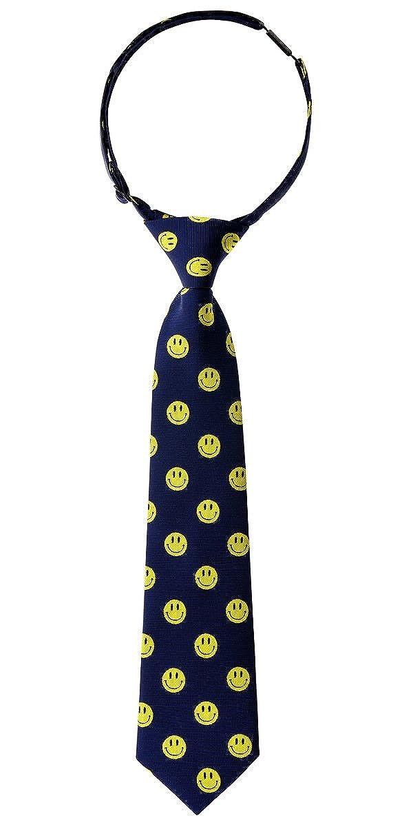 Retreez Happy smiley emoticon intrecciata pre-legato ragazzi cravatta/ /vari colori