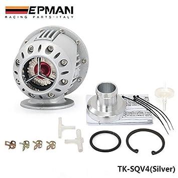 epman Universal SSQV/SQV 4 secuencial estilo Turbocompresor Turbo cargador Blow Off Valve BOV (plata, negro): Amazon.es: Coche y moto