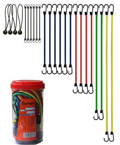 Cartman Bungee Cords Assortment Jar 24 Piece in Jar