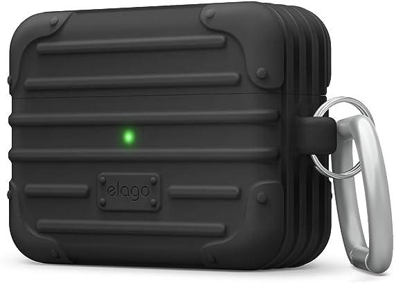 Elago Suit Case Mit Karabiner Kompatibel Mit Airpods Pro Hülle Ladecase Stoßfeste Schutzhülle Led Sichtbar Hochwertiges