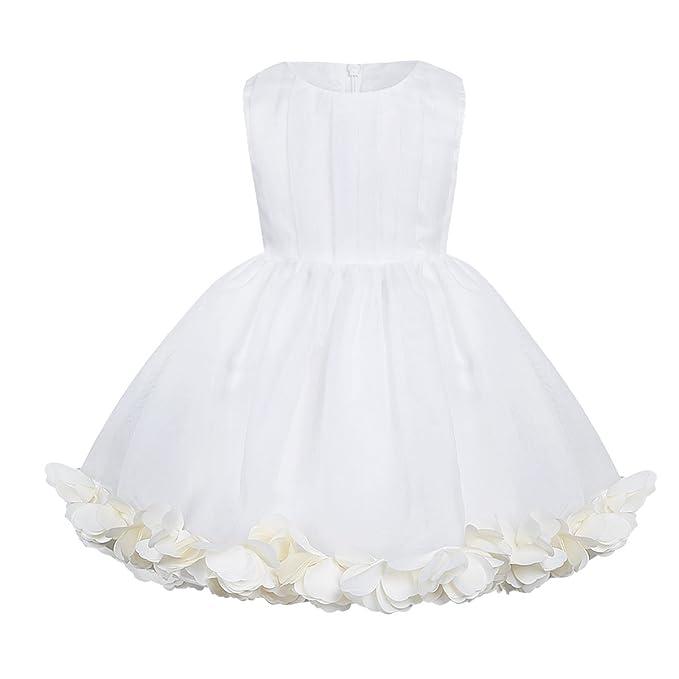 Freebily Vestido de Princesa Boda Fiesta para Bebé Niña Vestido Barato de Buatizo para Recién Nacido
