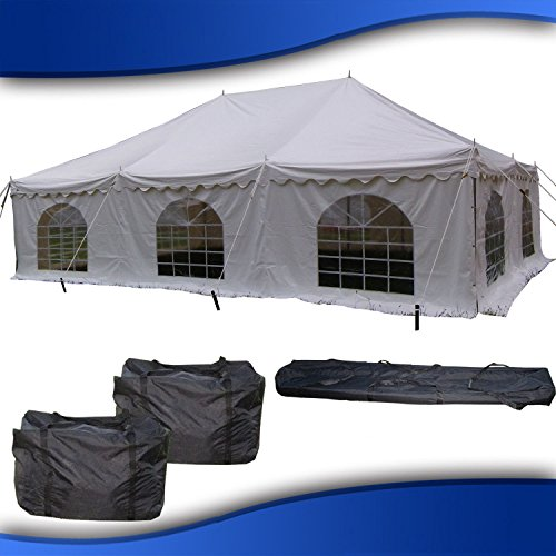 DELTA Canopies 30'x20' PVC Pole Tent - Heavy Duty Wedding Party Canopy Shelter - with Storage Bags - By
