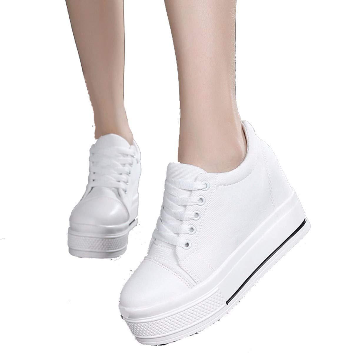 GTVERNH Damenschuhe Mode Leinwand - Schuhe Frühjahr Stil Joggen Unsichtbar Im Boden Dick Muffin Student Im Freizeitsport Schuhe.