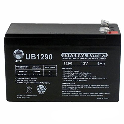 400 Gate - Universal Power Group 12V 9Ah SLA Battery Replacement for LiftMaster LA-400-D Swing Gate Opener