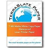 TerraSlate Paper 7 MIL 8.5'' x 11'' Waterproof Laser Printer/Copy Paper 500 Sheets