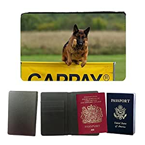 Super Stella PU Leather Travel Passport Wallet Case Cover // M00149149 German Shepherd Dog Competition // Universal passport leather cover