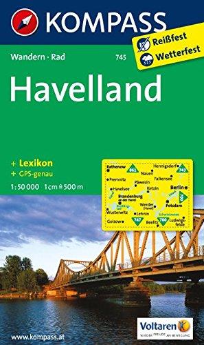 Havelland: Wanderkarte mit Kurzführer und Radwegen. GPS-genau. 1:50000 (KOMPASS-Wanderkarten, Band 745) (Englisch) Taschenbuch – Folded Map, 1. Dezember 2011 KOMPASS-Karten GmbH 3850265404 Havelland; Radkarten Havelland; Wanderkarten