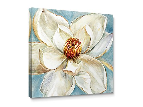 Niwo Art TM - Magnolia Flower B, Floral painting Artwork - Giclee Wall Art for Home Decor,Office or Lobby, Gallery Wrapped, Stretched, Framed Ready to Hang (Magnolia Wall)