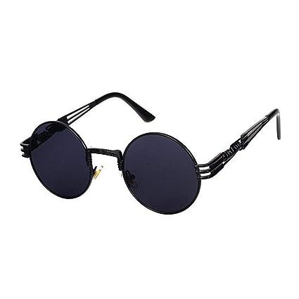 f8e5a82c9e Retro Round Steampunk Sunglasses UV400 Protection Lunette Gold Metal Spring Sun  Glasses For Men Cool Circle