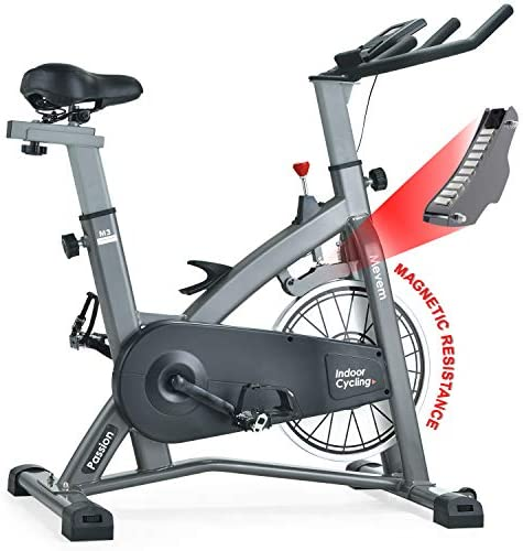 MEVEM Indoor Cycling Bike-Belt Drive Indoor Magnetic Exercise Bike,Indoor Stationary Bike