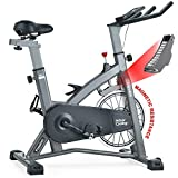 MEVEM Indoor Cycling Bike-Belt Drive Indoor Magnetic Exercise Bike,Indoor Stationary Bike for Home Cardio Gym Workout