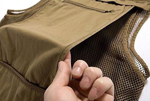 Libre De Casual Green Impermeable Multibolsillos Táctica Chaleco Al Hombres Los La Chaqueta Fotografía Aire IOgqWWzwv