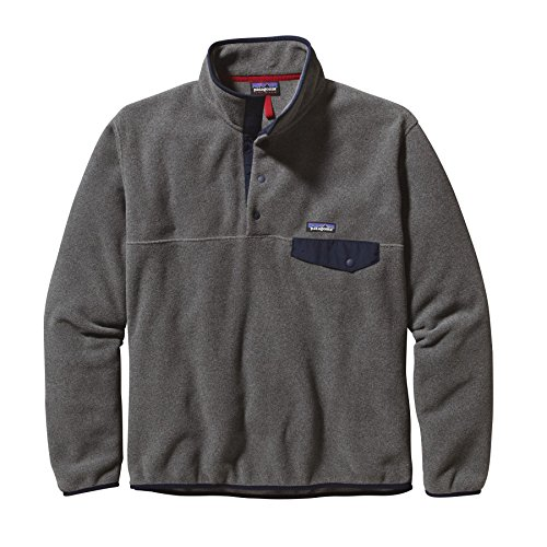 new-patagonia-mens-lw-synchilla-snap-t-pullover-nylon-spandex-navy