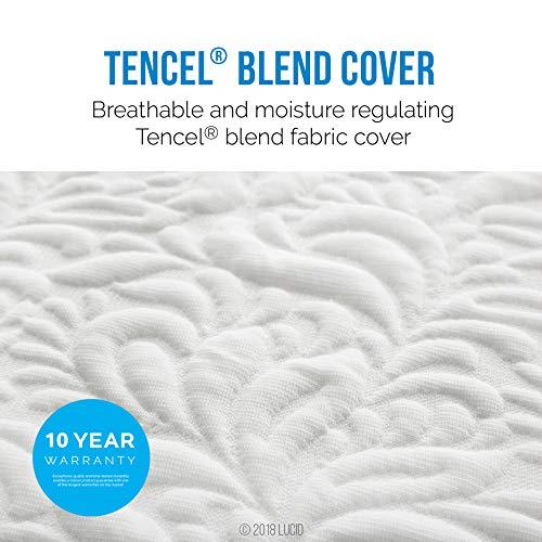 LUCID 10 Inch Latex Foam Mattress - Firm - Ventilated Design - CertiPUR-US Certified Foam - 10-Year Warranty - Twin