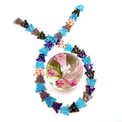 - Ecloud Shop Millefiori Murano Lampwork Glass Star 8mm Beads Strand FASHION