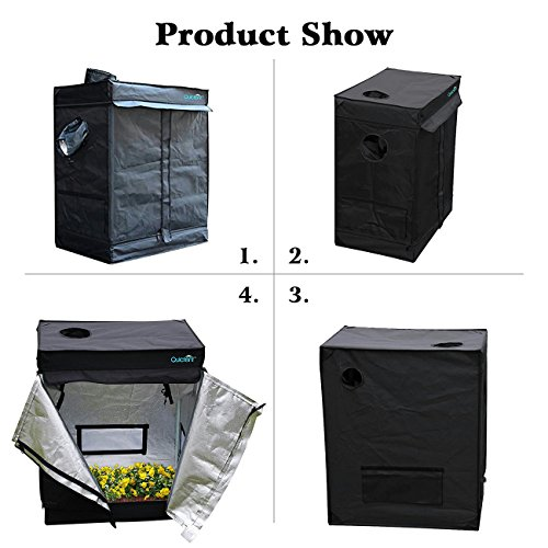 "51i2ON2VG0L - Quictent 30""x18""x36"" Hydroponic Indoor Grow Tent Reflective Mylar Non Toxic Dark Room"