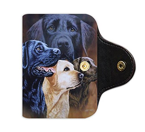 LiFei Business Labrador-Custom Leather Card Holder (Labrador Business Card Holder)