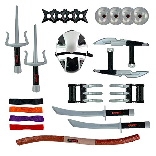 Deluxe Ninja Warrior Weapons Playset | Kids Pretend Role Play Toy Costume Accessories ()