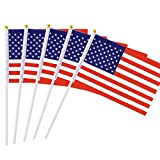US Stick flag USA Stick flag American Stick Flag Small Mini Flag 50 Pack Hand Held Flag Country National International Flags, Party Decorations Supplies For Parades,World Cup, 4th Of July,Celebration For Sale