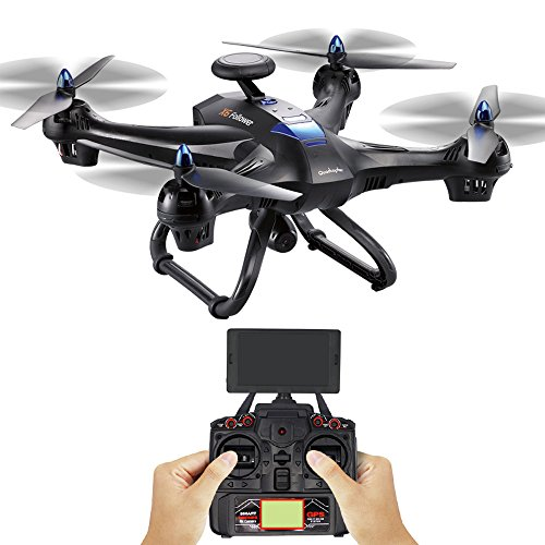 Global Drone X183 Dual-GPS - Sympath 5.8GHz 6-Axis Gyro WiFi FPV 1080P Camera Dual-GPS Follow Me Brushless Quadcopter - Extra Long Flight Time/Strong Wind Resistance Flight (Black)