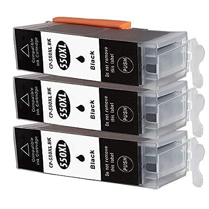 3 cartuchos de impresora CC Serie solo negro para Canon ...