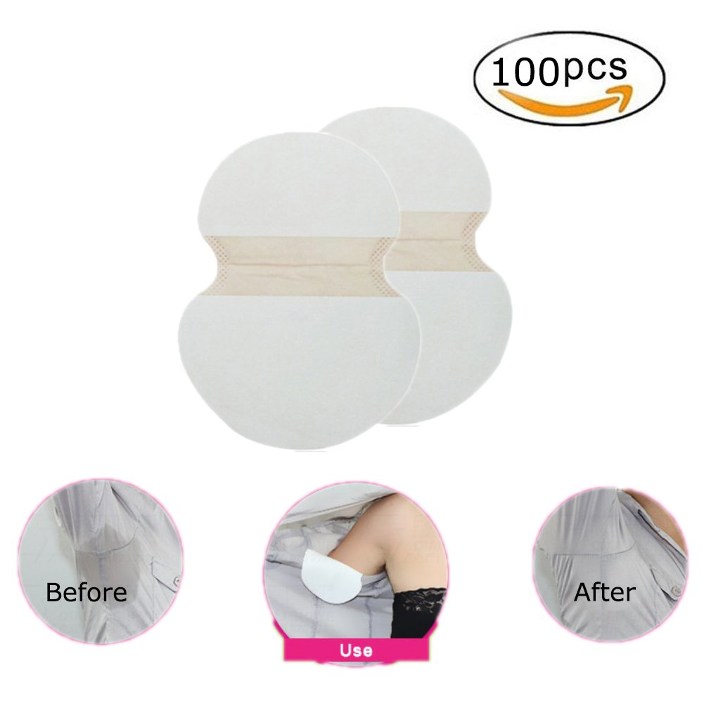 Ofanyia Underarm Armpit Sweat Perspiration Pads Shields Sweat Guard Disposable Anti Sweat Patches for Women and Men (100 Pcs)