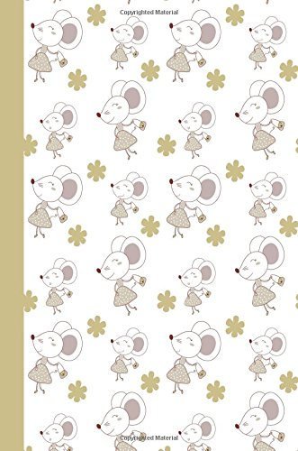 Journal: Shopping Mouse (Gold) 6x9 - GRAPH JOURNAL - Journal with graph paper pages, square grid pattern (Fashion Graph Journal Series)