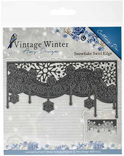Find It Trading Amy Design Vintage Winter Die-Snowflake Swirl Edge by Find It Trading