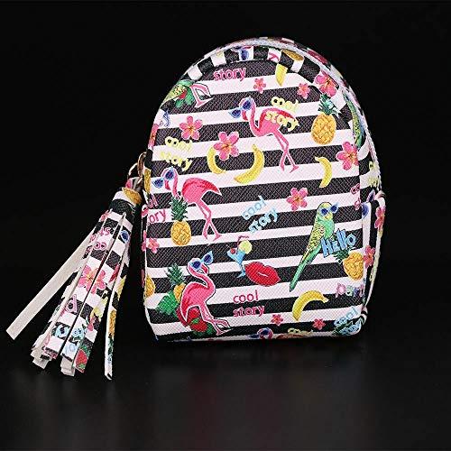 Mini Backpack Money Bags Animal Wallet Card Holder Flamingo Coin Purses Tassel (size - B) ()
