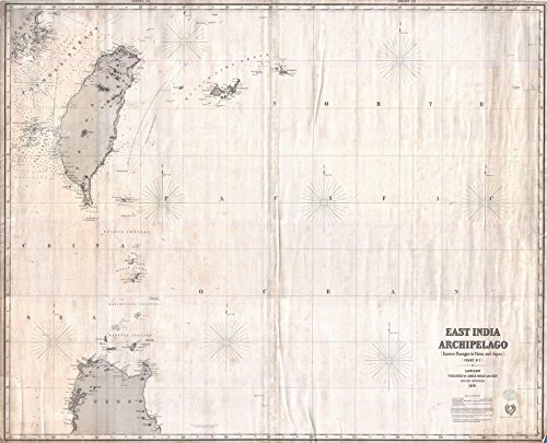 Historic Map | Imray Blue-Back Nautical Chart or Map of Taiwan (Formosa), China -, 1876 | Historical Antique Vintage Decor Poster Wall Art | 24in x 20in